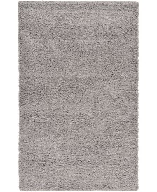 Bridgeport Home Exact Shag Exs1 Cloud Gray 5' x 8' Area Rug