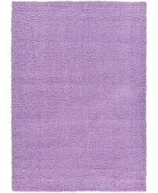 Exact Shag Exs1 Lilac 7' x 10' Area Rug