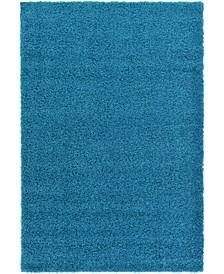 Exact Shag Exs1 Turquoise 5' x 8' Area Rug
