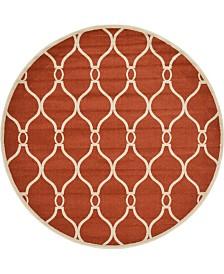 Bridgeport Home Arbor Arb6 Terracotta 8' x 8' Round Area Rug