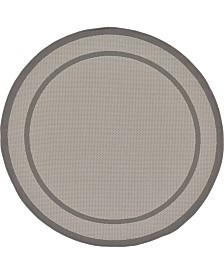 Bridgeport Home Pashio Pas5 Gray 6' x 6' Round Area Rug