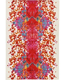 Bridgeport Home Pari Par9 Red 6' x 9' Area Rug