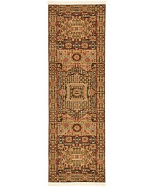 Bridgeport Home Wilder Wld1 Brown 2' x 6' Runner Area Rug