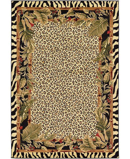 Bridgeport Home Maasai Mss1 Ivory 6' x 9' Area Rug