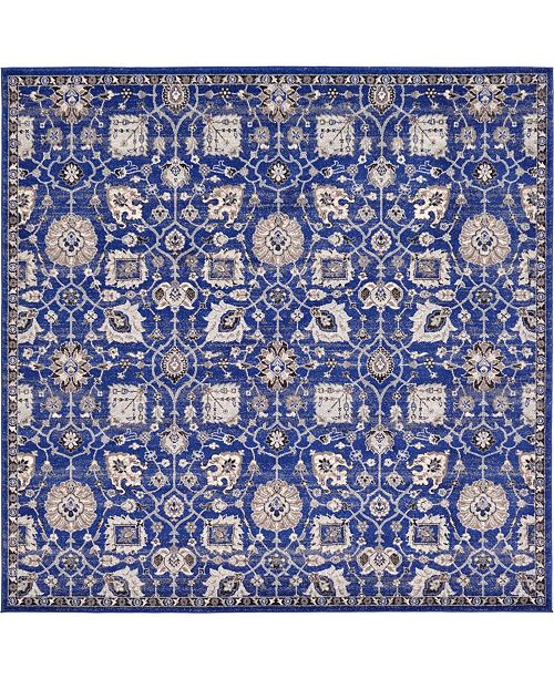 "Bridgeport Home Wisdom Wis1 Blue 8' 4"" x 8' 4"" Square Area Rug"