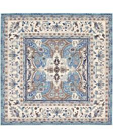 """Bridgeport Home Wisdom Wis2 Light Blue 8' 4"""" x 8' 4"""" Square Area Rug"""