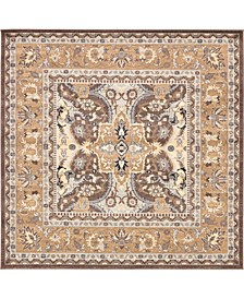 "Wisdom Wis2 Brown 8' 4"" x 8' 4"" Square Area Rug"