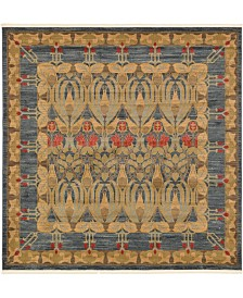 Bridgeport Home Orwyn Orw3 Blue 8' x 8' Square Area Rug