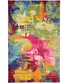 Bridgeport Home Newwolf New2 Multi 5' x 8' Area Rug