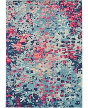 Bridgeport Home Adah Ada1 Blue 7' x 10' Area Rug
