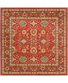 Bridgeport Home Orwyn Orw1 Red 8' x 8' Square Area Rug