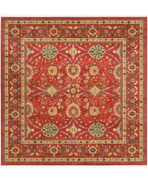 Bridgeport Home Orwyn Orw1 Red 8' x 8' Square Area Rug