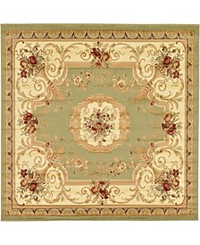 Belvoir Blv3 Green 8' x 8' Square Area Rug