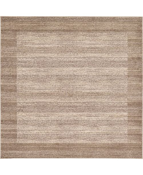 Bridgeport Home Lyon Lyo4 Beige 8' x 8' Square Area Rug