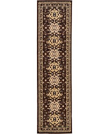 "Bridgeport Home Charvi Chr1 Brown 2' 7"" x 10' Runner Area Rug"