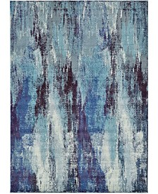"Bridgeport Home Adah Ada2 Blue 8' x 11' 4"" Area Rug"