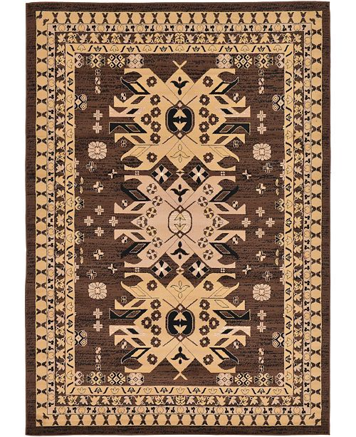 Bridgeport Home Charvi Chr1 Brown 7' x 10' Area Rug