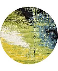 Pari Par1 Light Green 6' x 6' Round Area Rug