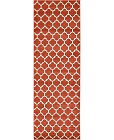 "Arbor Arb1 Light Terracotta 2' 7"" x 8' Runner Area Rug"