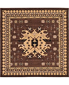 Charvi Chr1 Brown 8' x 8' Square Area Rug