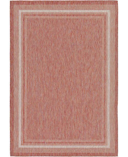 "Bridgeport Home Pashio Pas5 Rust Red 8' x 11' 4"" Area Rug"