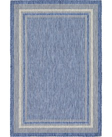 Bridgeport Home Pashio Pas5 Blue 6' x 9' Area Rug