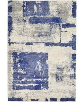 Wisdom Wis4 Navy Blue 4' x 6' Area Rug