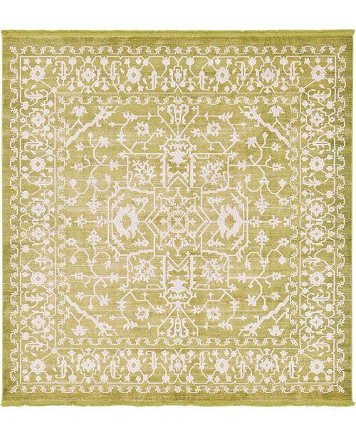Bridgeport Home Norston Nor1 Light Green 8' x 8' Square Area Rug