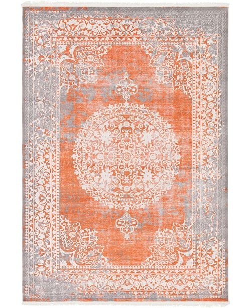 "Bridgeport Home Norston Nor4 Terracotta 8' x 11' 4"" Area Rug"