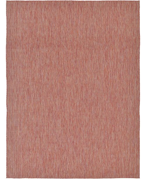 Bridgeport Home Pashio Pas6 Rust Red 9' x 12' Area Rug