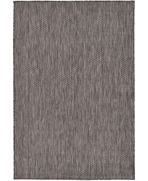 Bridgeport Home Pashio Pas6 Black 4' x 6' Area Rug