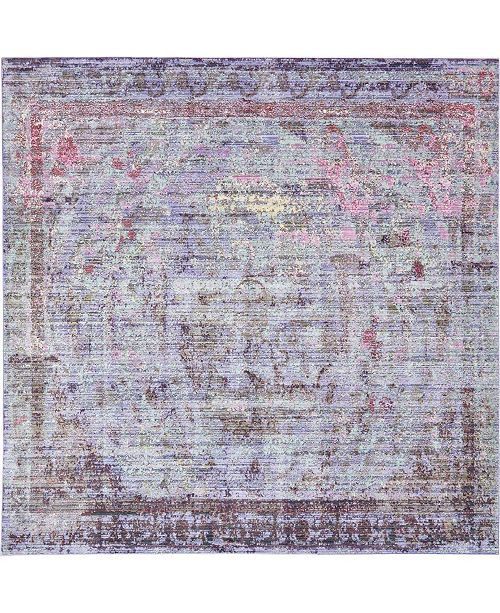 Bridgeport Home Malin Mal1 Violet 8' x 8' Square Area Rug
