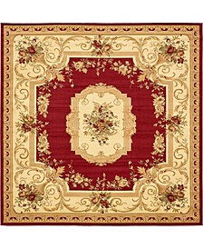 Belvoir Blv3 Red 10' x 10' Square Area Rug