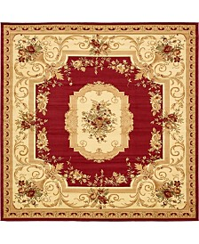 Bridgeport Home Belvoir Blv3 Red 10' x 10' Square Area Rug