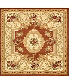 Bridgeport Home Belvoir Blv3 Brick Red 6' x 6' Square Area Rug