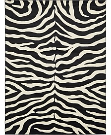 Bridgeport Home Maasai Mss5 Black 9' x 12' Area Rug