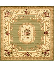 Belvoir Blv3 Green 10' x 10' Square Area Rug