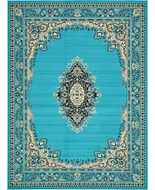 "Bridgeport Home Birsu Bir1 Turquoise 9' 10"" x 13' Area Rug"