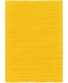 Bridgeport Home Exact Shag Exs1 Tuscan Sun Yellow 6' x 9' Area Rug