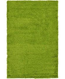 Bridgeport Home Exact Shag Exs1 Grass Green 5' x 8' Area Rug