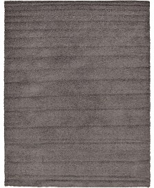 Bridgeport Home Exact Shag Exs1 Graphite Gray 10' x 13' Area Rug