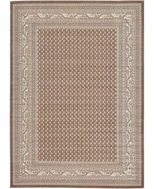 Bridgeport Home Axbridge Axb1 Brown 7' x 10' Area Rug