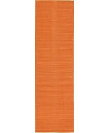 "Axbridge Axb3 Orange 2' 9"" x 9' 10"" Runner Area Rug"