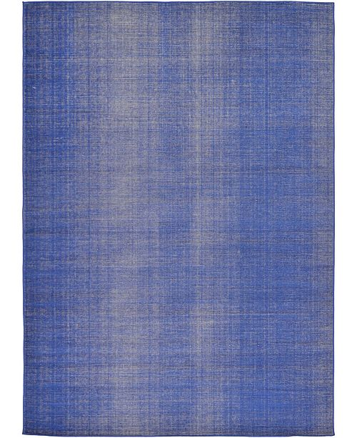Bridgeport Home Axbridge Axb3 Navy Blue 7' x 10' Area Rug