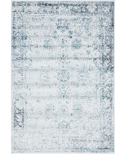 Bridgeport Home Basha Bas1 Light Blue 4' x 6' Area Rug