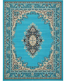 Bridgeport Home Birsu Bir1 Turquoise 9' x 12' Area Rug