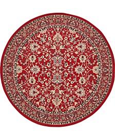 Arnav Arn1 Red 8' x 8' Round Area Rug