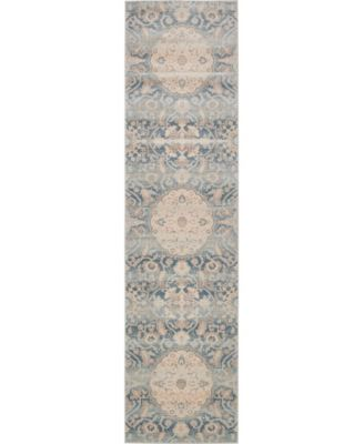 Caan Can8 Blue 8' x 8' Square Area Rug