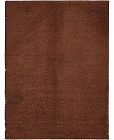Bridgeport Home Exact Shag Exs1 Chocolate Brown 10' x 13' Area Rug