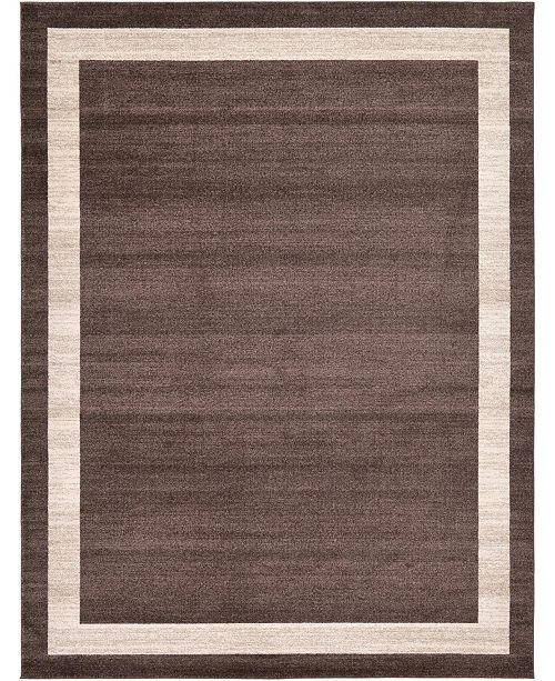 Bridgeport Home Lyon Lyo5 Brown 9' x 12' Area Rug